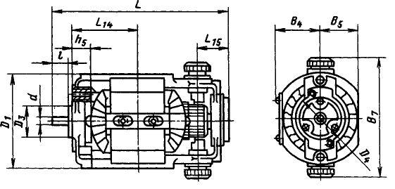 Габарит двигателя